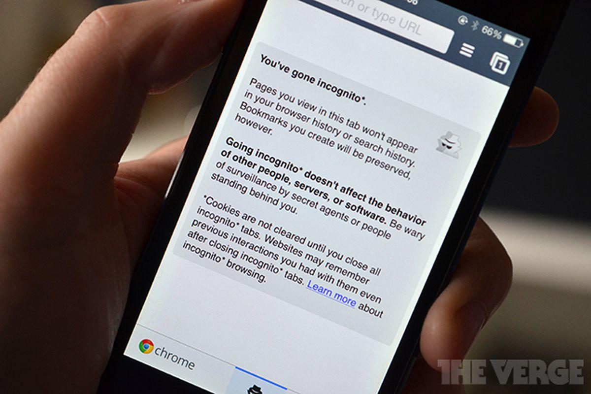 Chrome iOS incognito