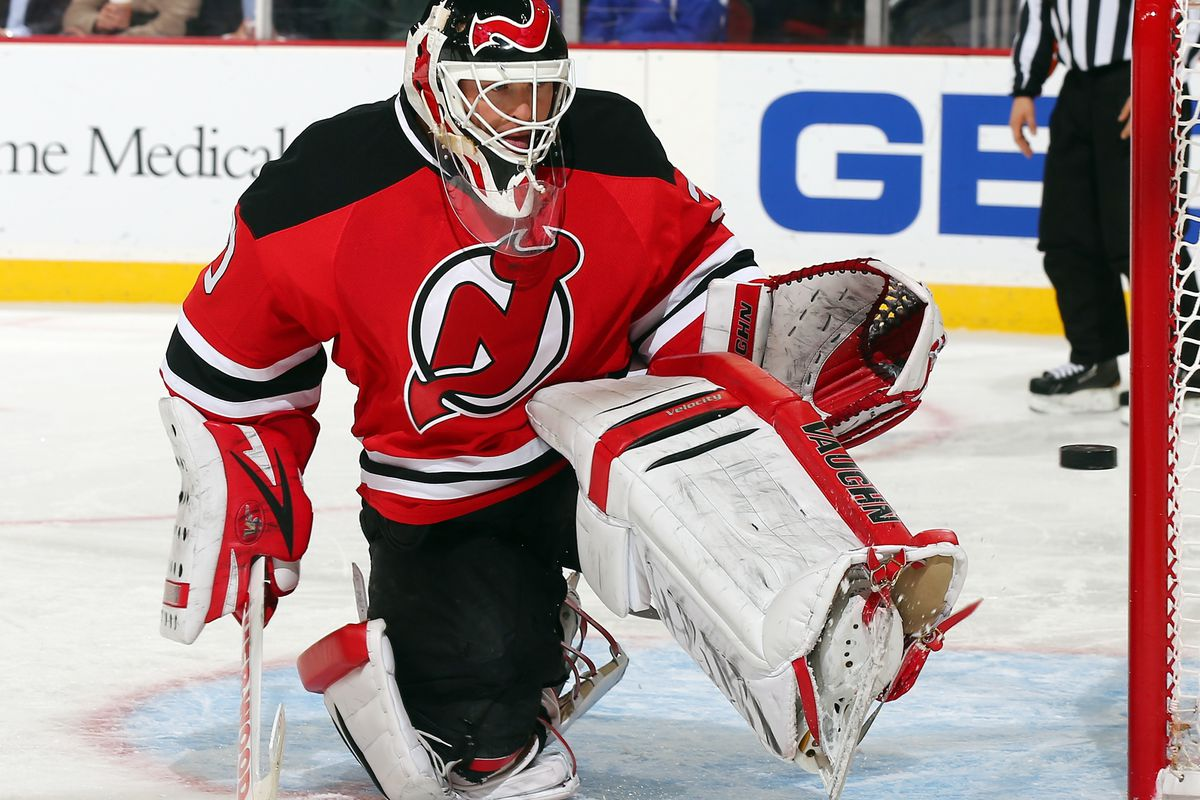 Martin Brodeur has been absent from the New Jersey Devils lineup with a back injury.