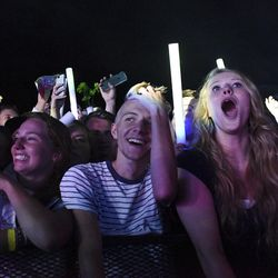 Concertgoers attend the LoveLoud Festival was held at Utah Valley University in Orem on Saturday, Aug. 26, 2017.
