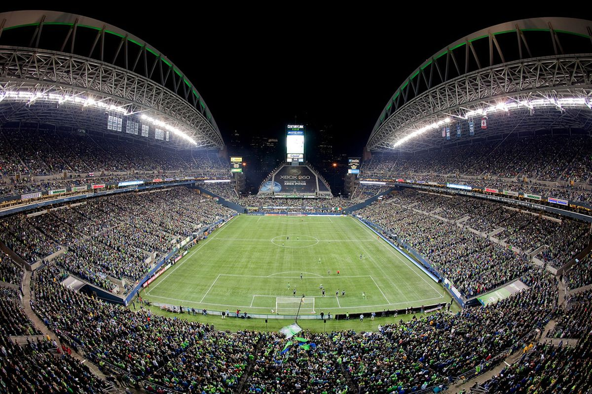 CenturyLink Field could be even more packed than this for the two home Cascadia Cup games as the Seattle Sounders are apparently planning to open the entire stadium for those games. (Photo by Otto Greule Jr/Getty Images)