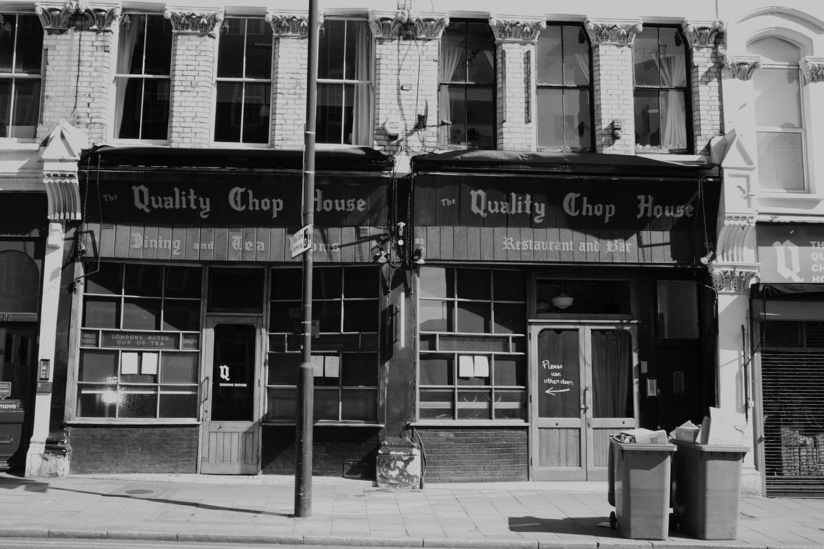Quality Chop House in Clerkenwell is closed in central London due to the coronavirus COVID-19 outbreak in the capital