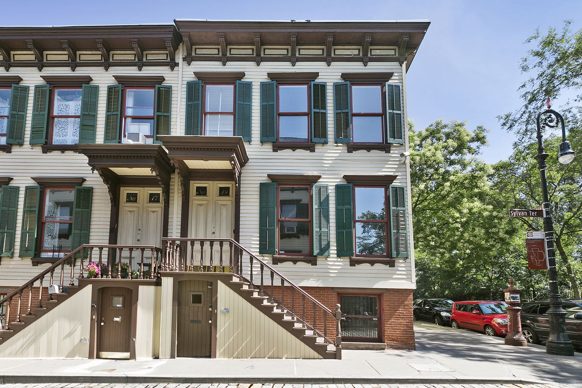 For a quaint townhouse on hidden sylvan terrace for Manhattan townhouse for sale