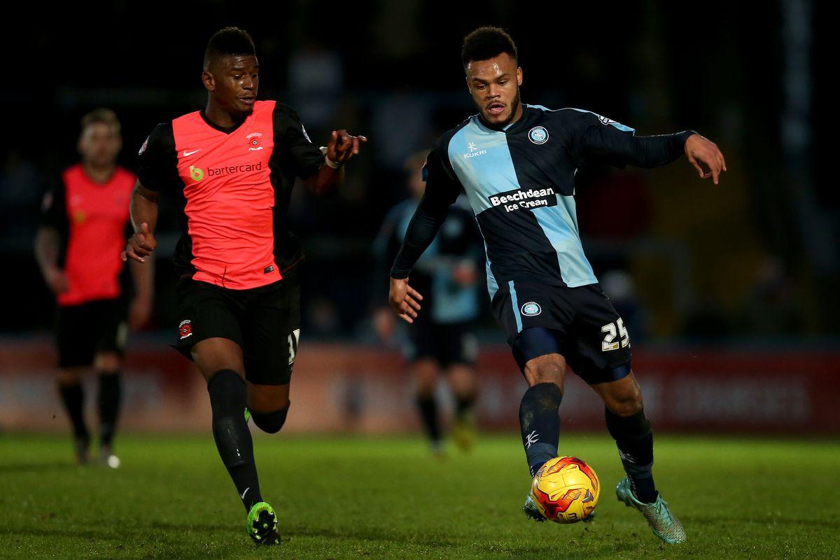 Tshibola battles hard for his new side, Hartlepool United