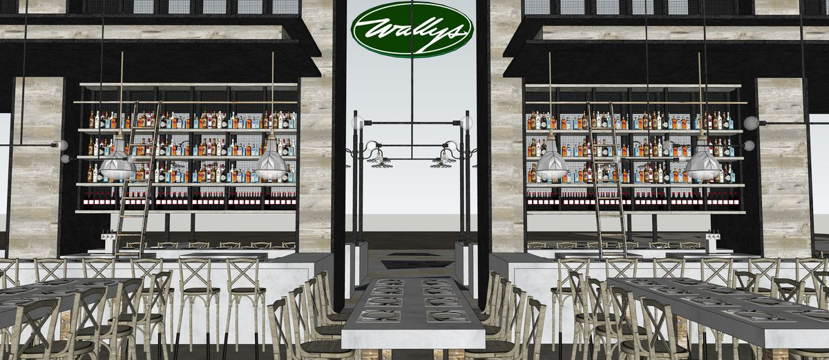 A rendering of Wally's Wine & Spirits