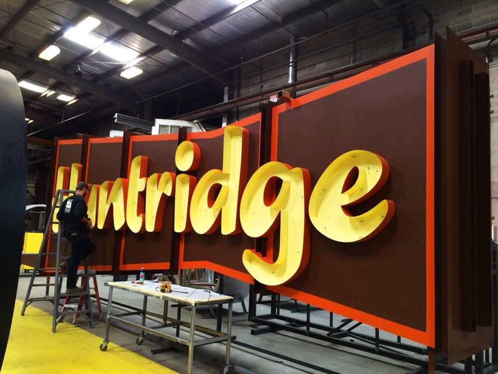 Huntridge Retail Center sign