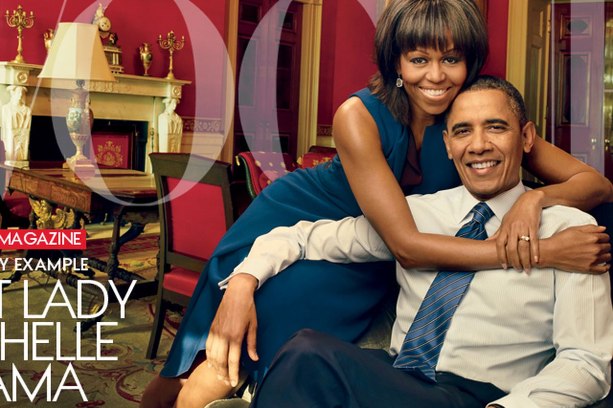 """Image via <a href=""""http://www.vogue.com/magazine/article/michelle-obama-leading-by-example/#1"""">Vogue</a>"""