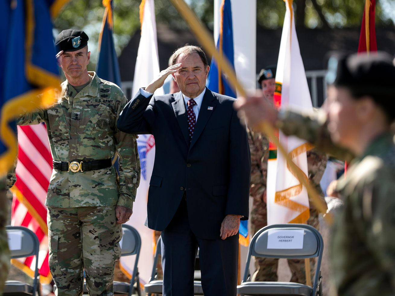 Photos: Utah governor salutes the troops