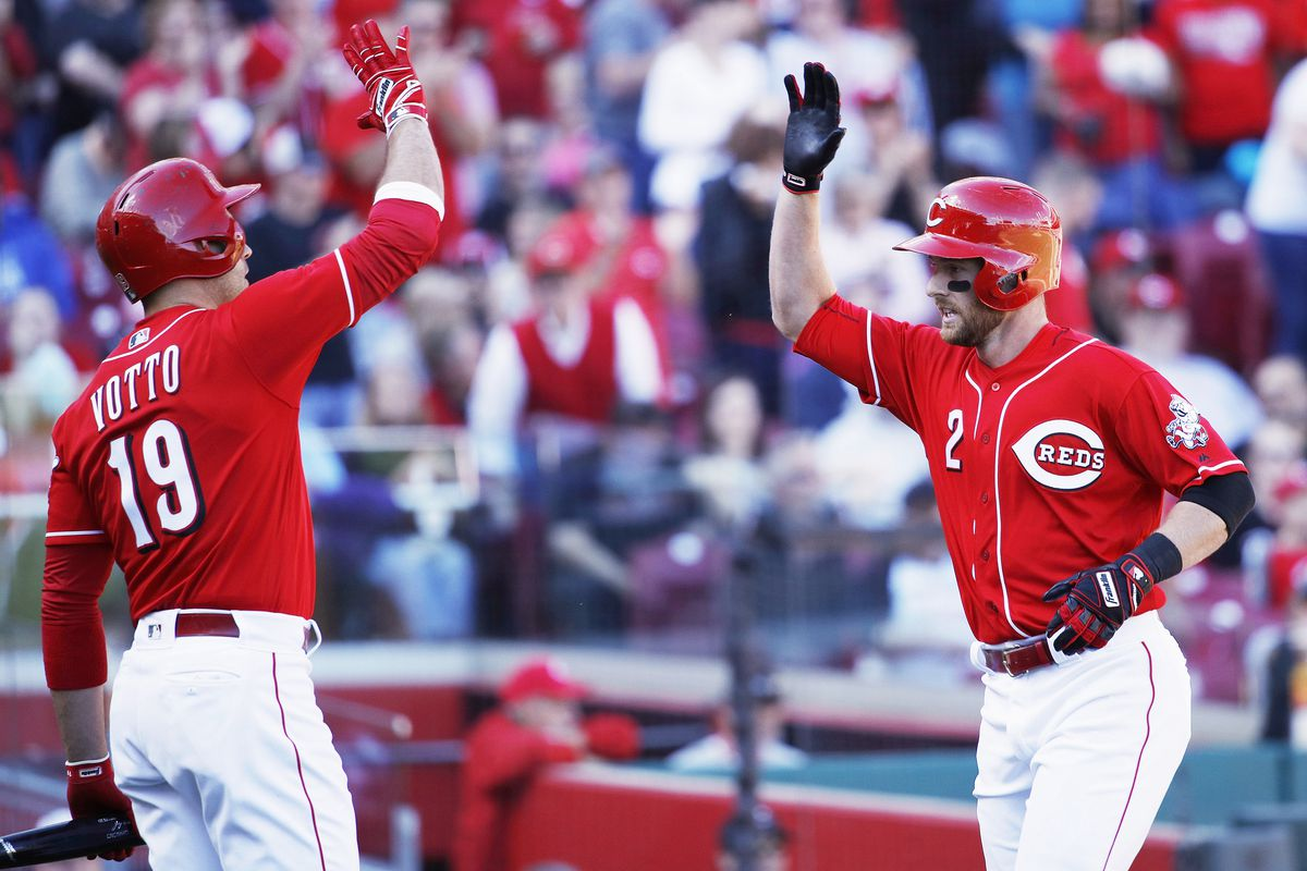 Joey Votto and Zack Cozart (GettyImages)