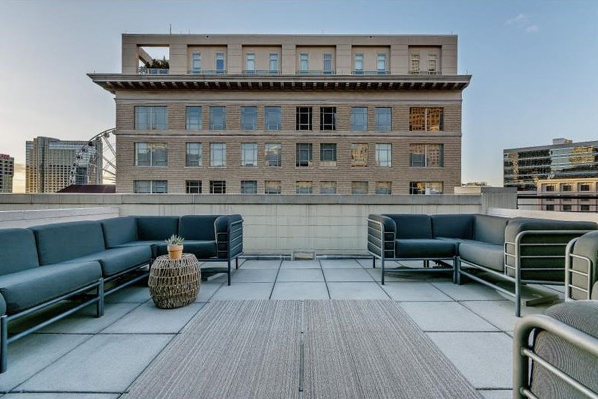 A downtown Atlanta loft with cool views of older buildings.