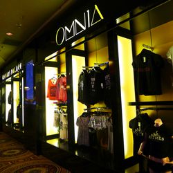 The Omnia kiosk takes over the former Pussycat Dolls retail space.