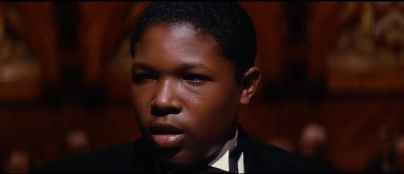 <em>Denzel Whitaker as James Farmer Jr. in 'The Great Debaters'</em>