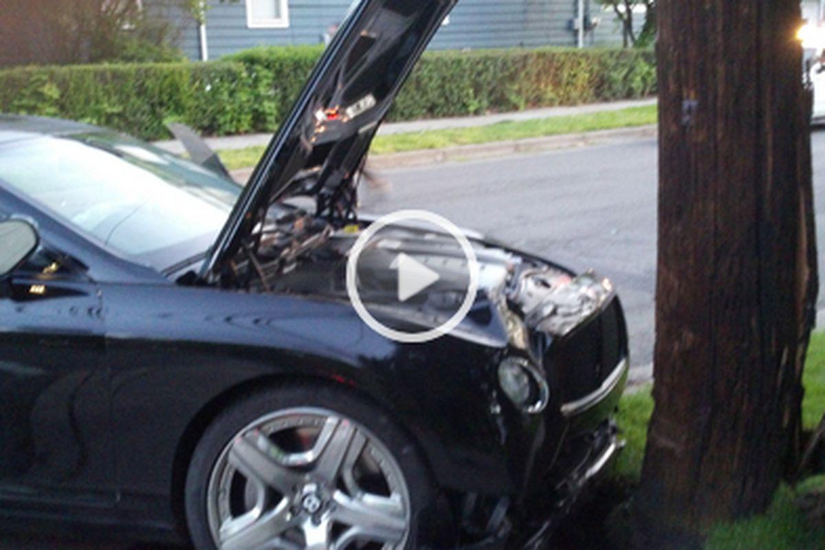 Jon Jones DUI car crash pic and video - MMAmania.com