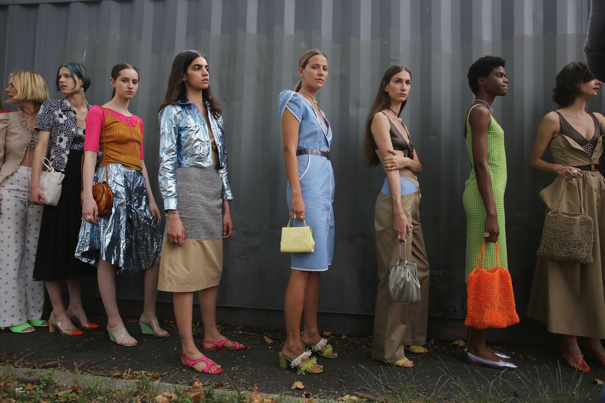 Models lined up for NYFW