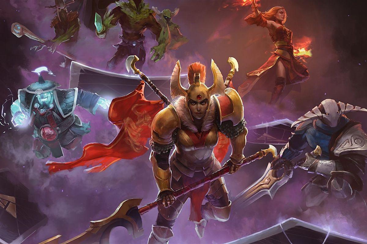 artwork of Artifact heroes riding cards