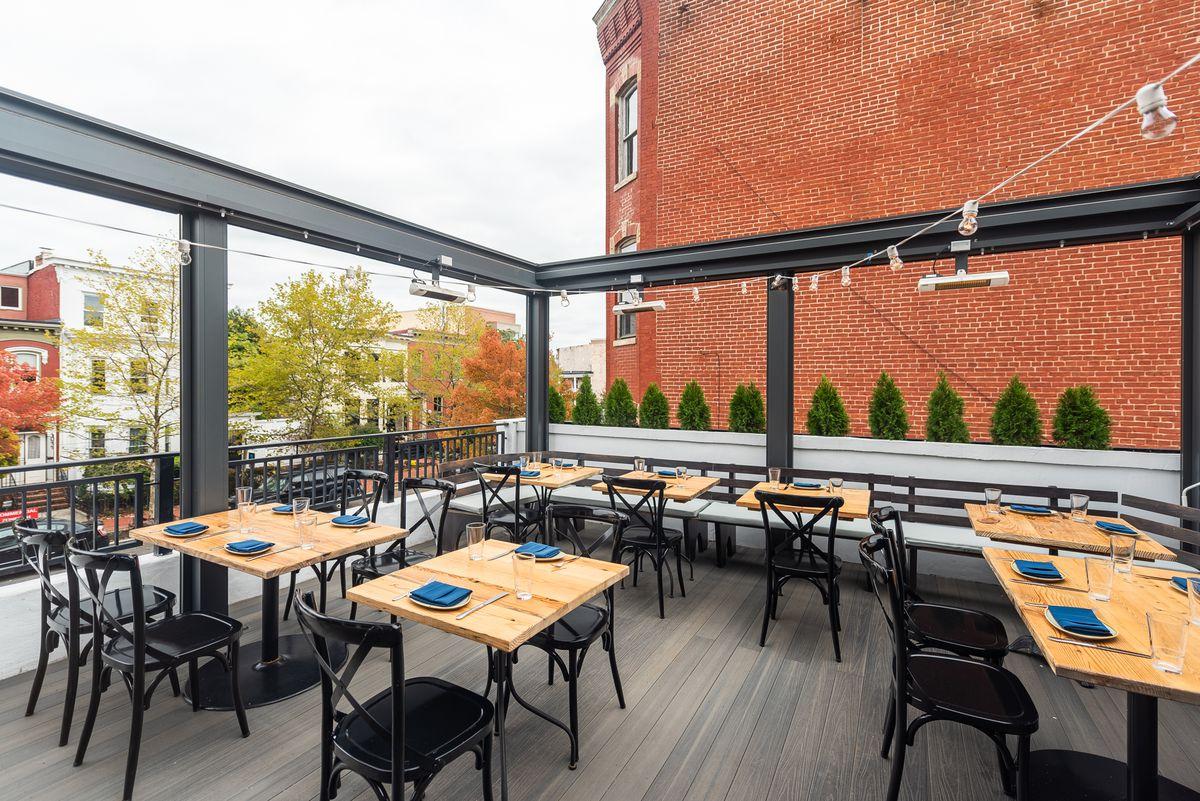 The rooftop patio at Nina May