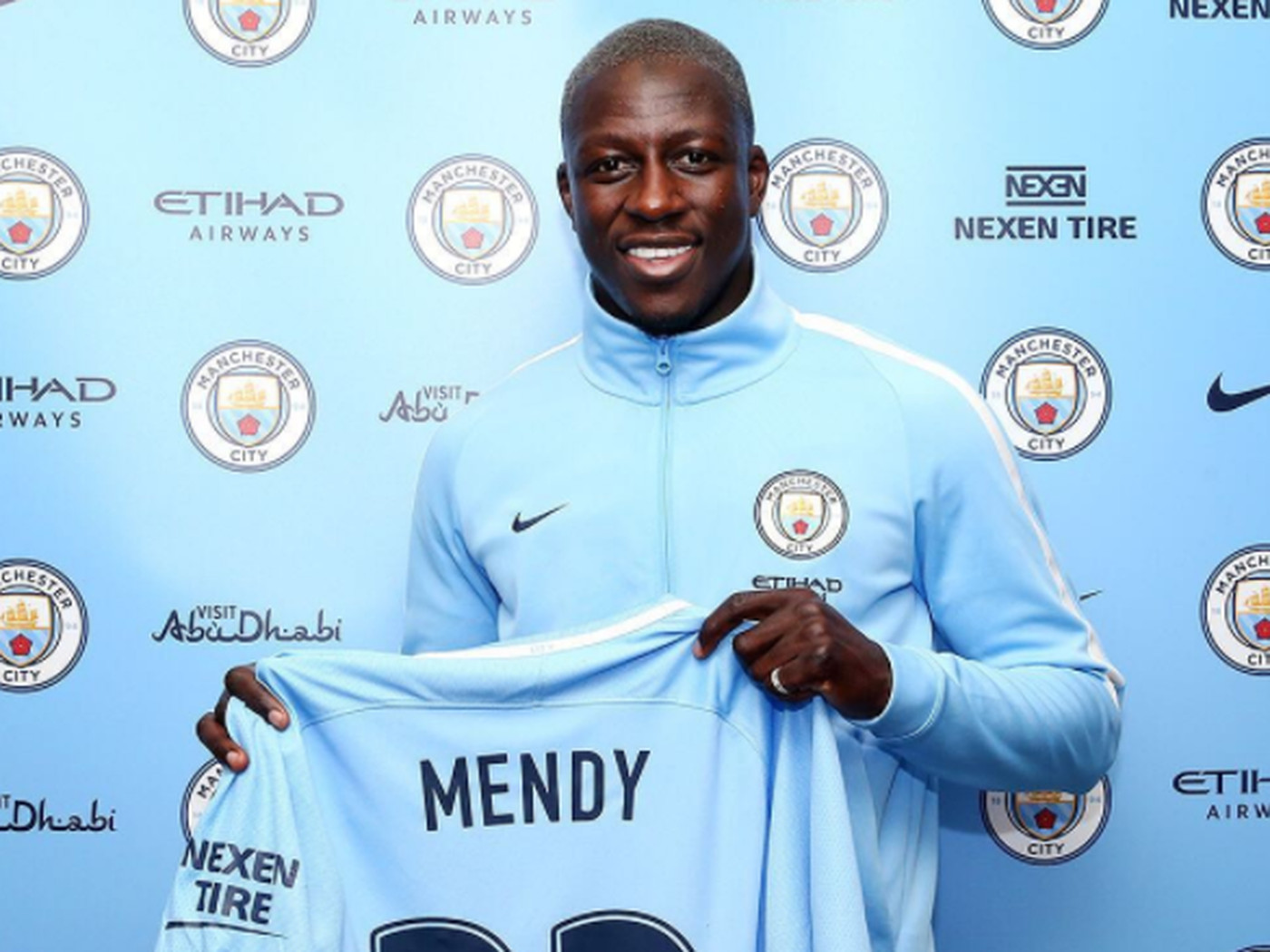 best authentic 51699 921ad Manchester City confirm Benjamin Mendy kit number - Bitter ...