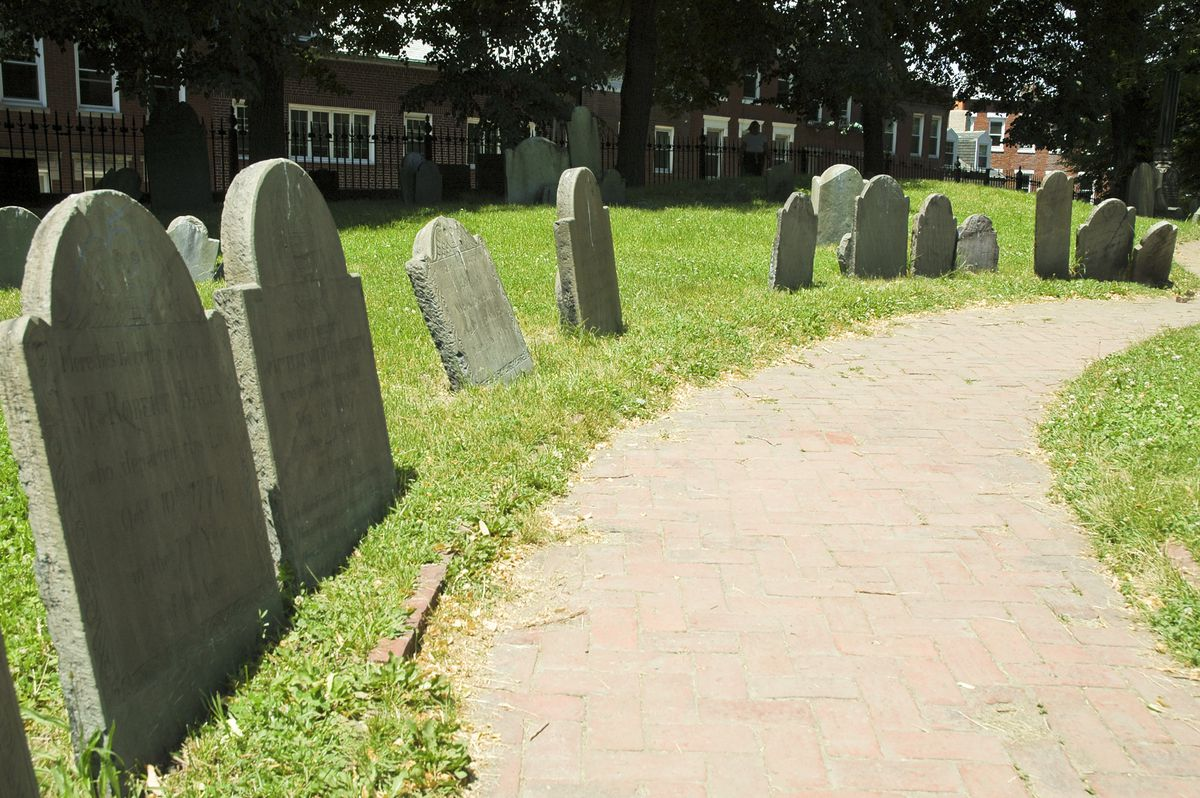 An old cemetery in Boston's North End.