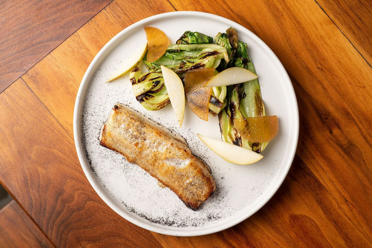 Marinated black cod with grilled vegetables at Majordomo
