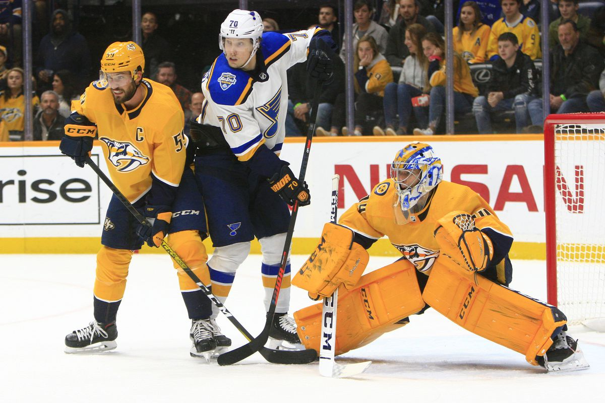 NHL: NOV 25 Blues at Predators