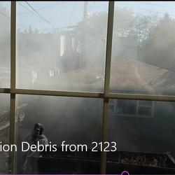 Dust seen during the renovation.   Provided/Tony Ruiz