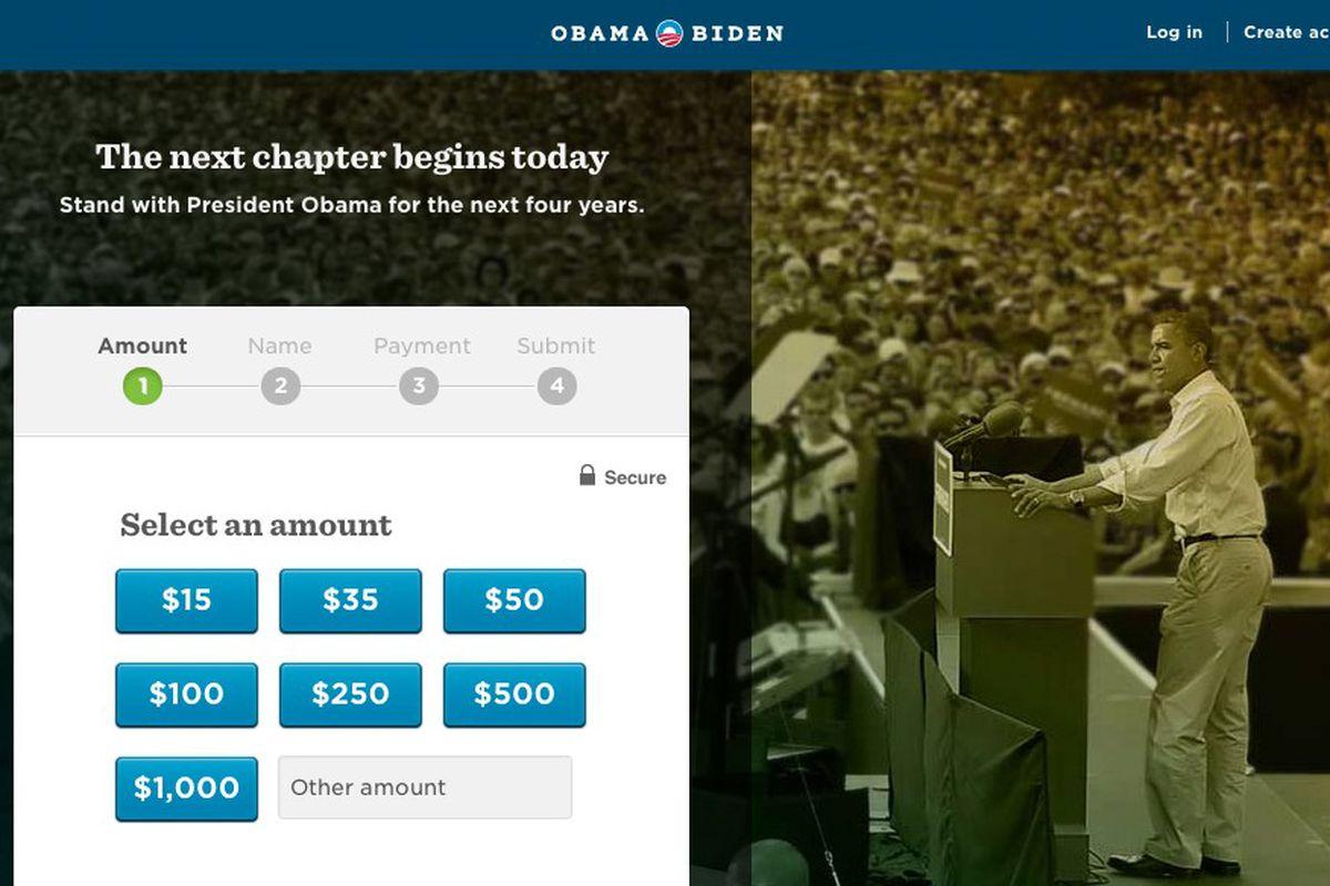 obama donation