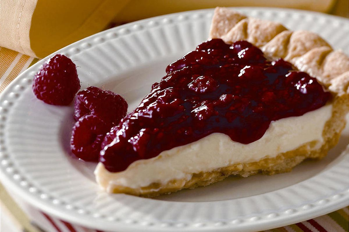 A berry cream pie from the Lion House Pies cookbook. There are ways to making a berry cream pie less fattening and still taste good.