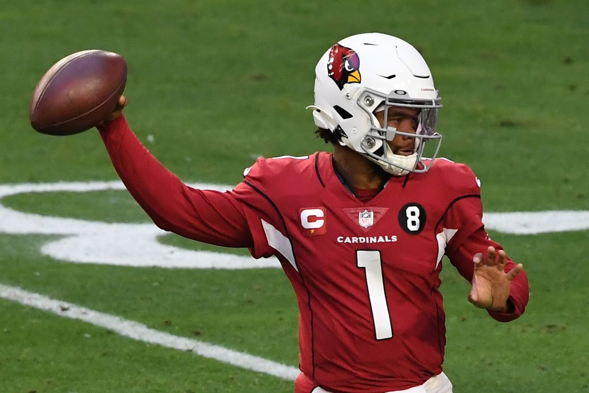 Quarterback Kyler Murray #1 of the Arizona Cardinals looks to pass during the first half against the San Francisco 49ers at State Farm Stadium on December 26, 2020 in Glendale, Arizona.