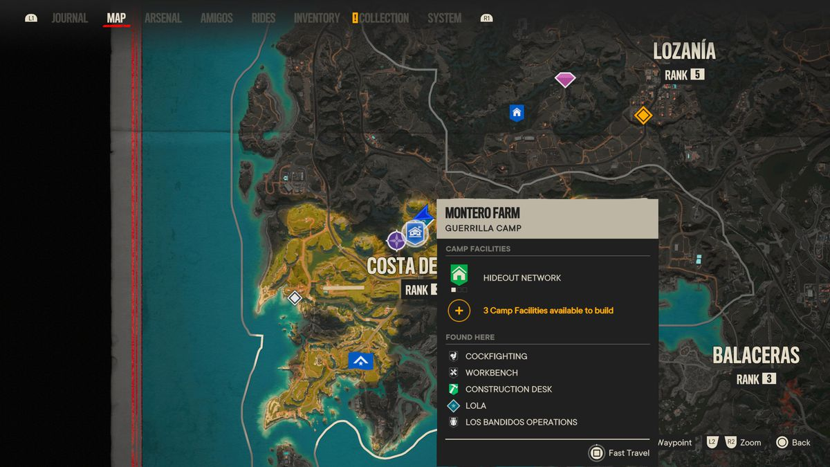 A fast travel point in Far Cry 6