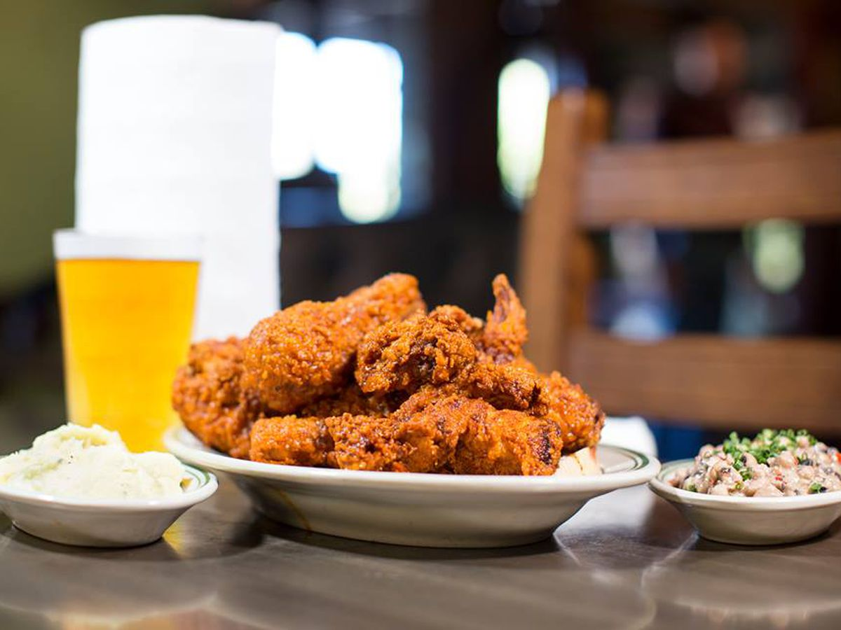 Fried chicken at Lou's Food Bar