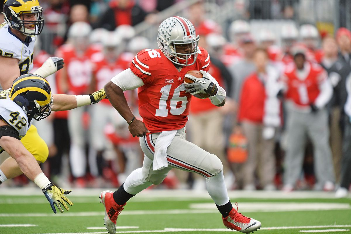 Ohio State quarterback J.T. Barrett was named the Freshman of the Year by the CFPA.