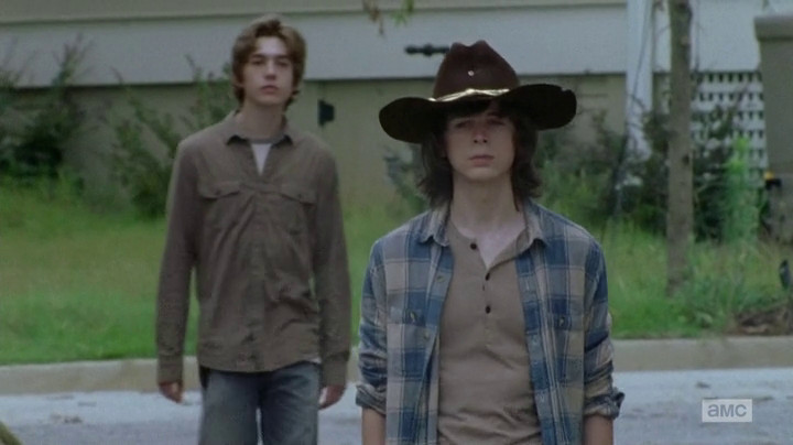 Carl and Ron, out for a stroll.