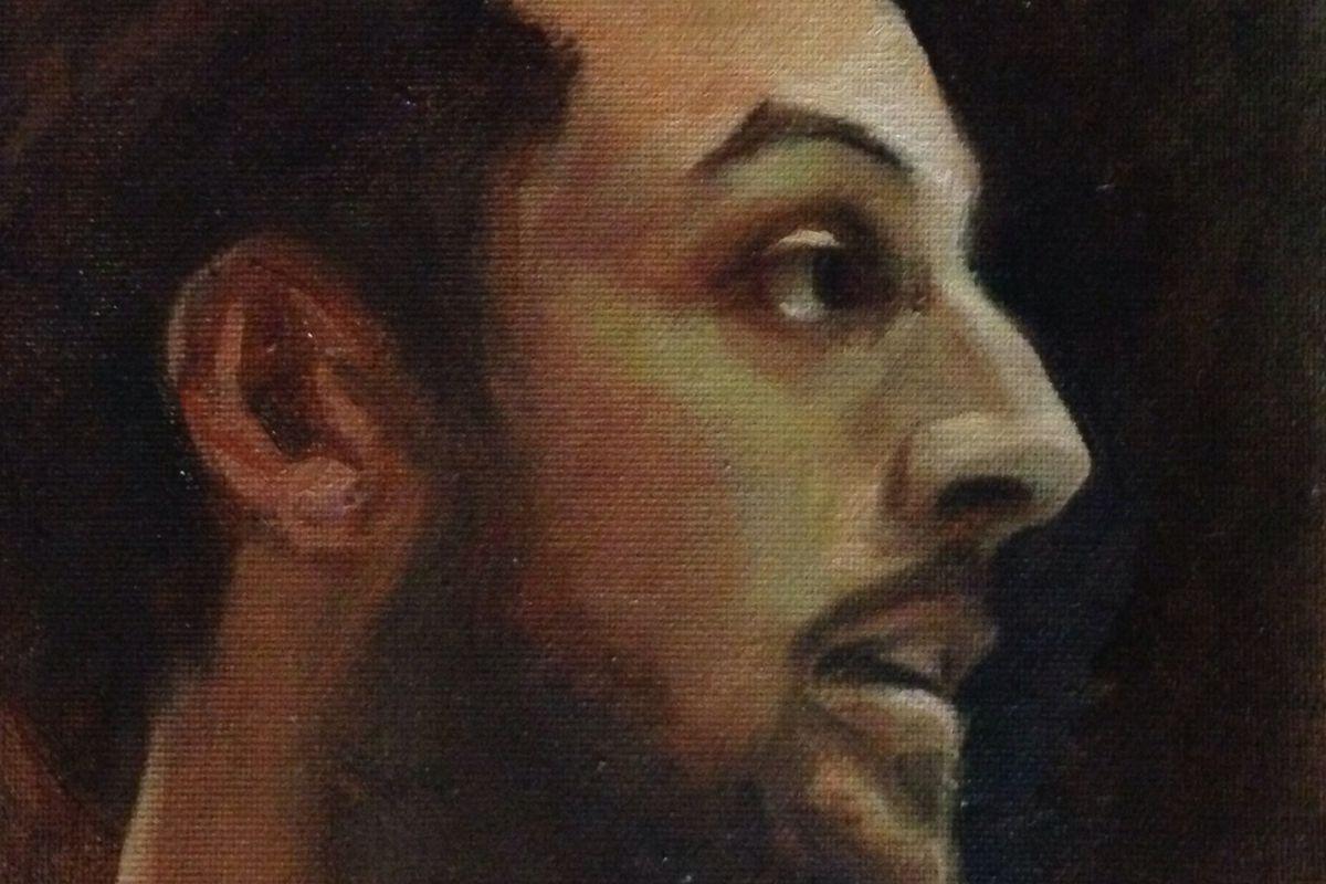 Marco Belinelli - oil on canvas