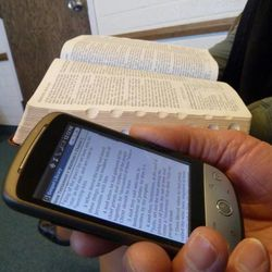 Many members of The Church of Jesus Christ of Latter-day Saints have various opinions regarding the pros and cons of using digital scriptures and the traditional print scriptures.