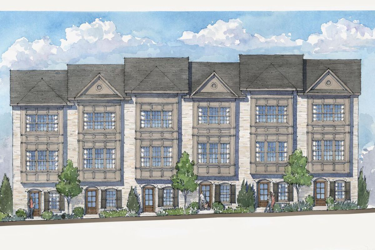 Townhomes that will be built by a suburban developer near Lindbergh in Atlanta.