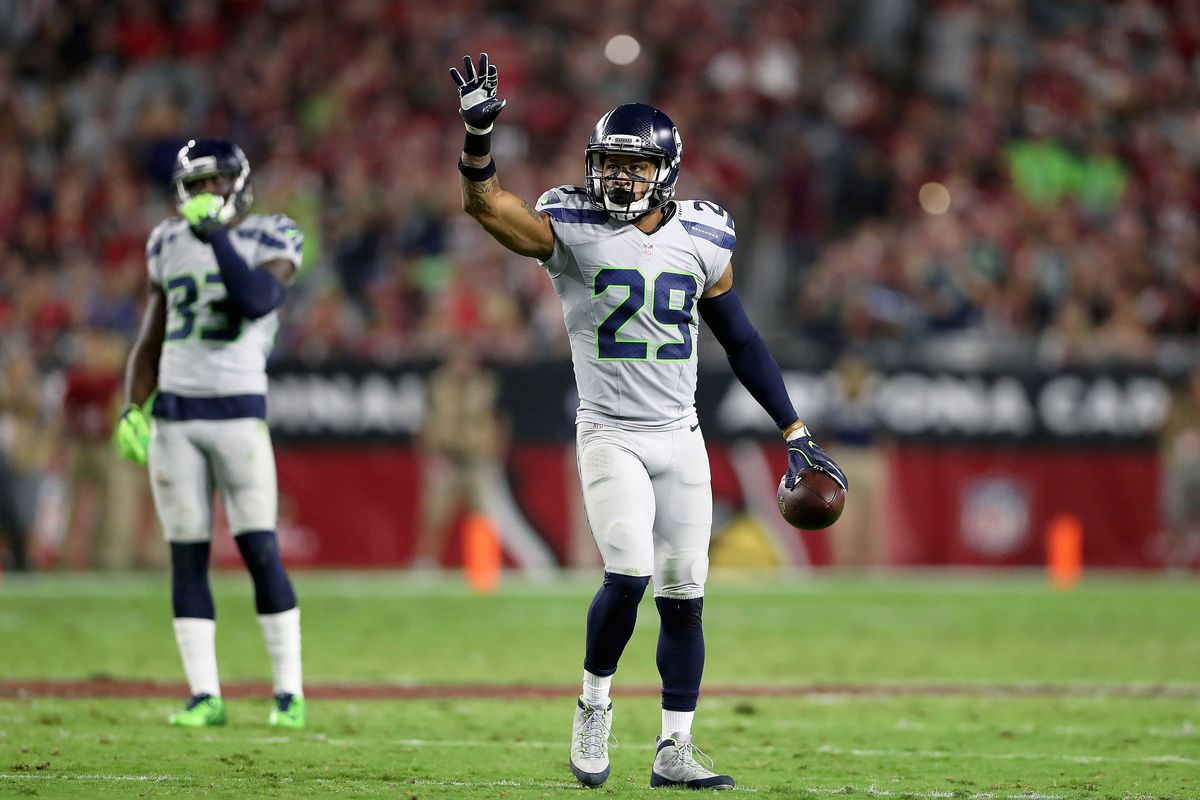 Earl Thomas during a game for the Seattle Seahawks