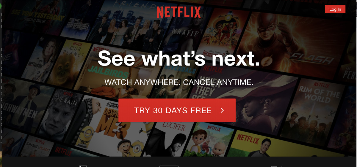 Video subscriptions netflix