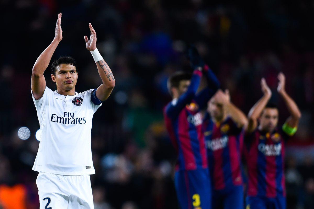 Report PSG defender Thiago Silva wants Barcelona summer transfer