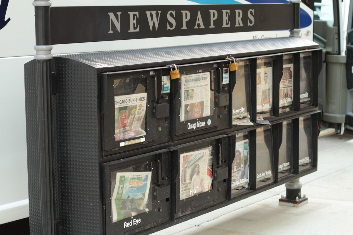 A newspaper stand in Chicago. News organizations in Illinois need unfettered Freedom of Information access, even during the coronavirus pandemic.