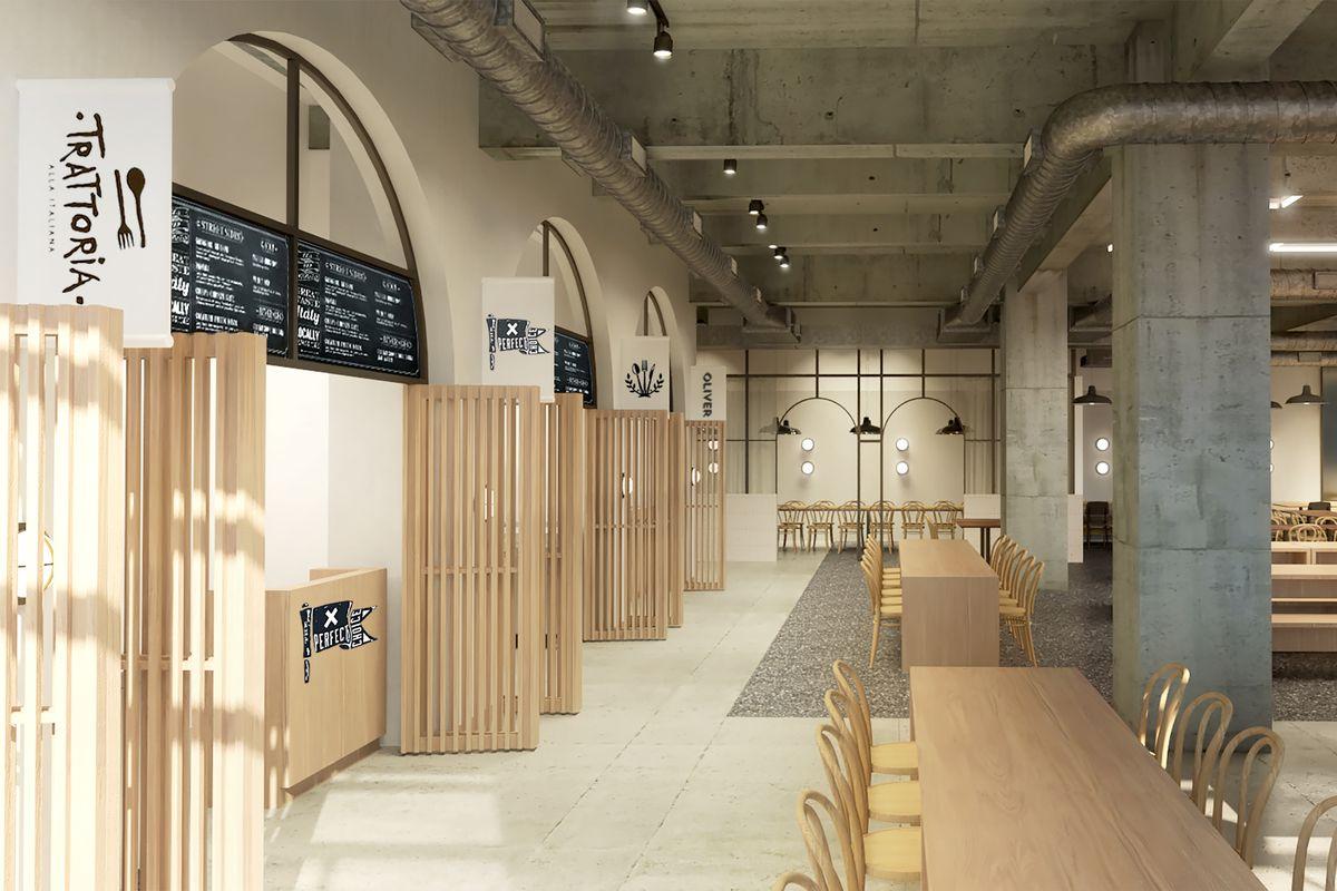 New Detroit Food Hall Reveals Four New Restaurants Headed Fort
