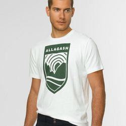 """<a href=""""http://www.llbean.com/llbeansignature/llb/shop/68291?subrnd=1&parentCategory=505937&feat=505937-sigtn&cat4=505936"""" rel=""""nofollow"""">Waterfront Jersey Graphic T-Shirt in Bright Navy</a>, $35: """"When I was a kid we used to go camping"""