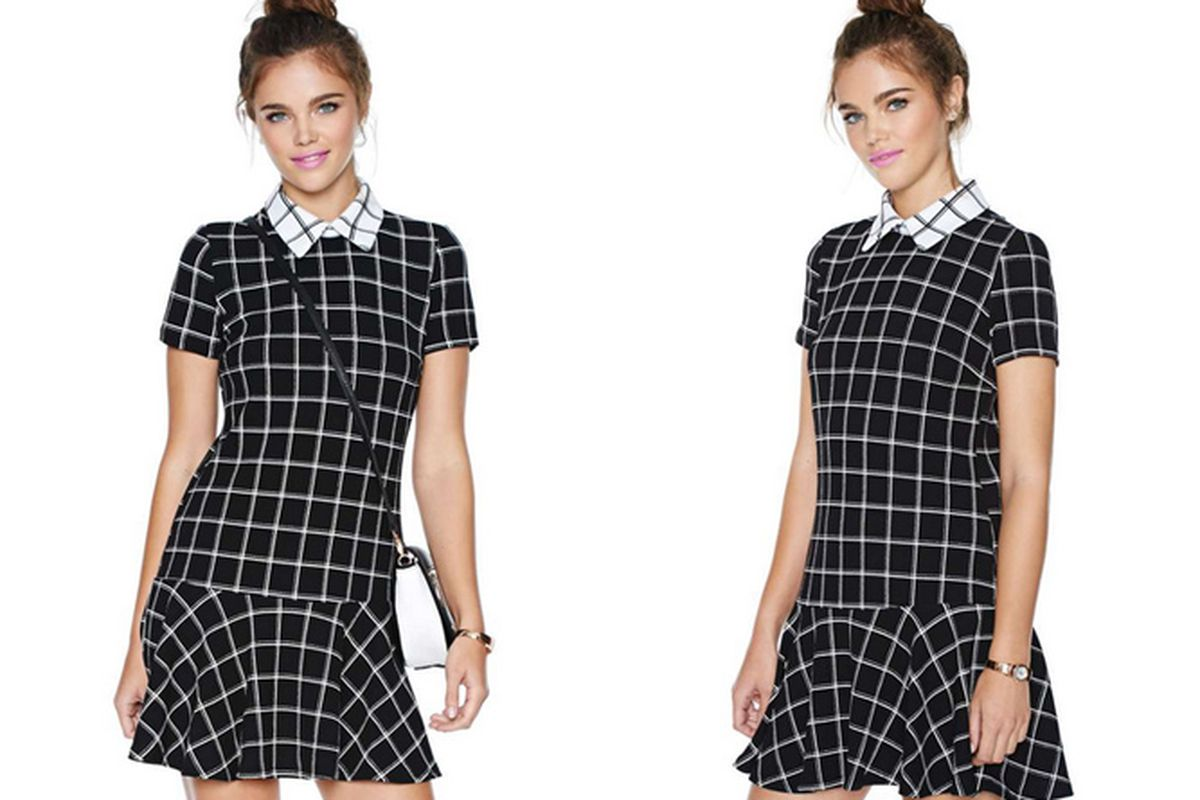 """Check In Dress, <a href=""""http://www.nastygal.com/clothes-dresses/check-in-dress"""">$78</a> at Nasty Gal"""