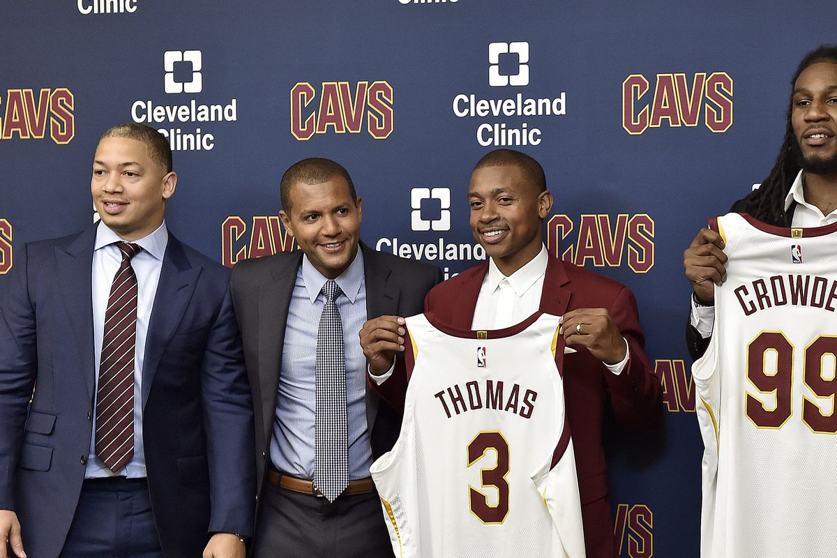 Cleveland Cavaliers Introduce Isaiah Thomas, Jae Crowder and Ante Zizic