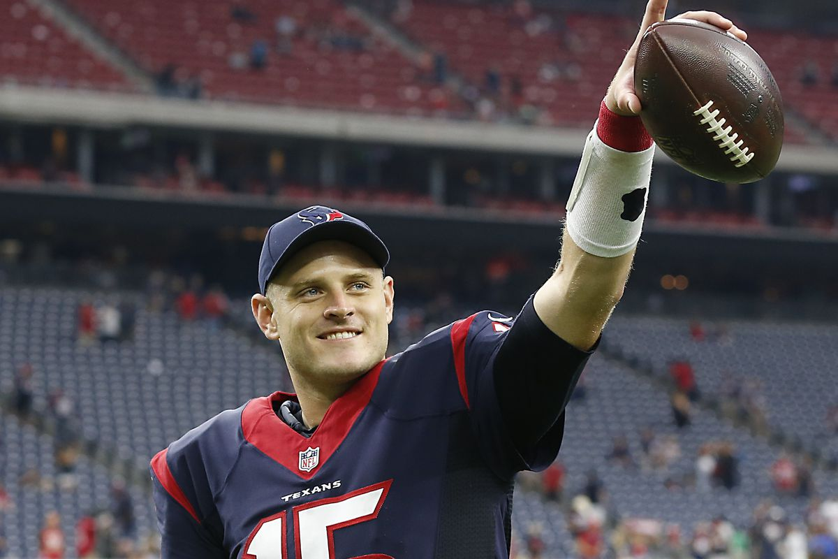 He won't be smiling if the Texans lose to Indianapolis tonight.