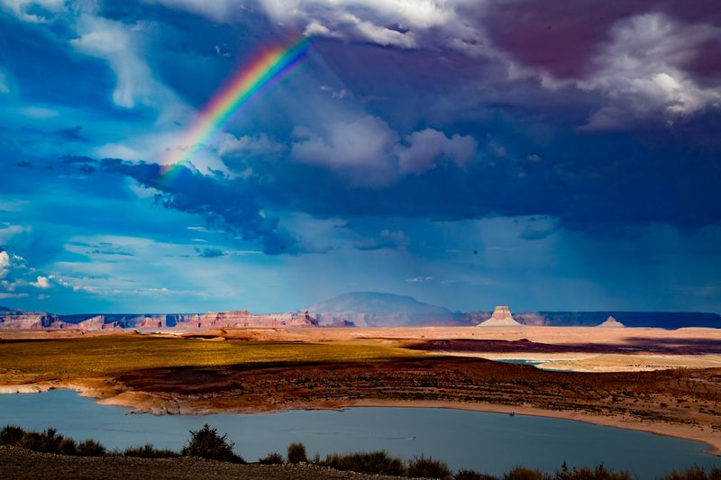 Lake Powell as seen from Page, Arizona