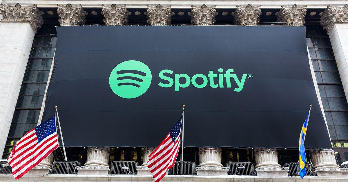 Spotify Stock Begins Trading At 16590 A Share Placing Company