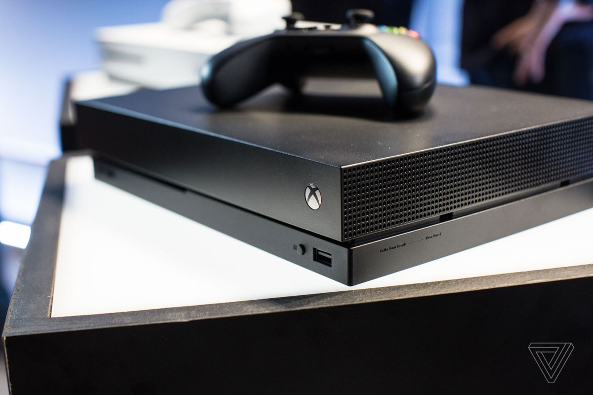 Microsoft's Xbox One X is a boring black box concealing