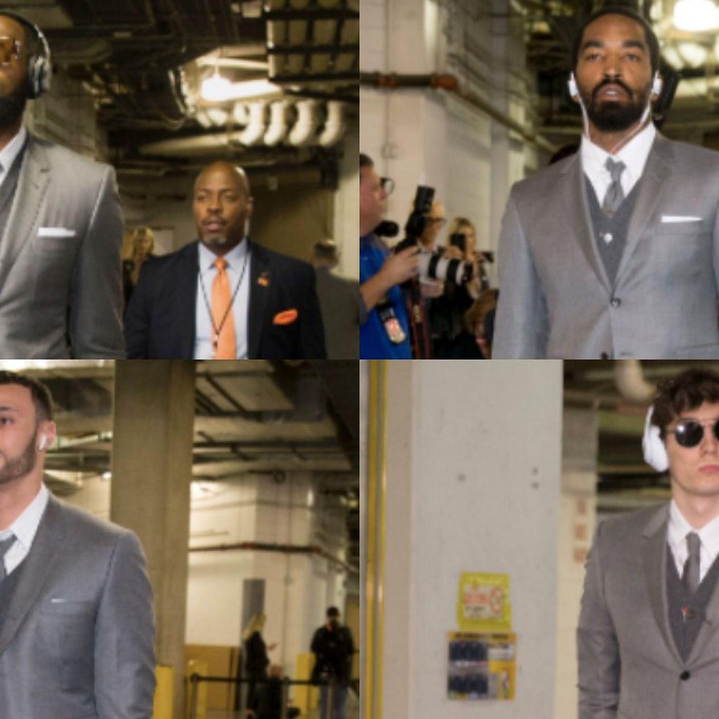 9add7ab8503c LeBron James made the Cavs wear matching Thom Browne suits before Game 3 -  SBNation.com