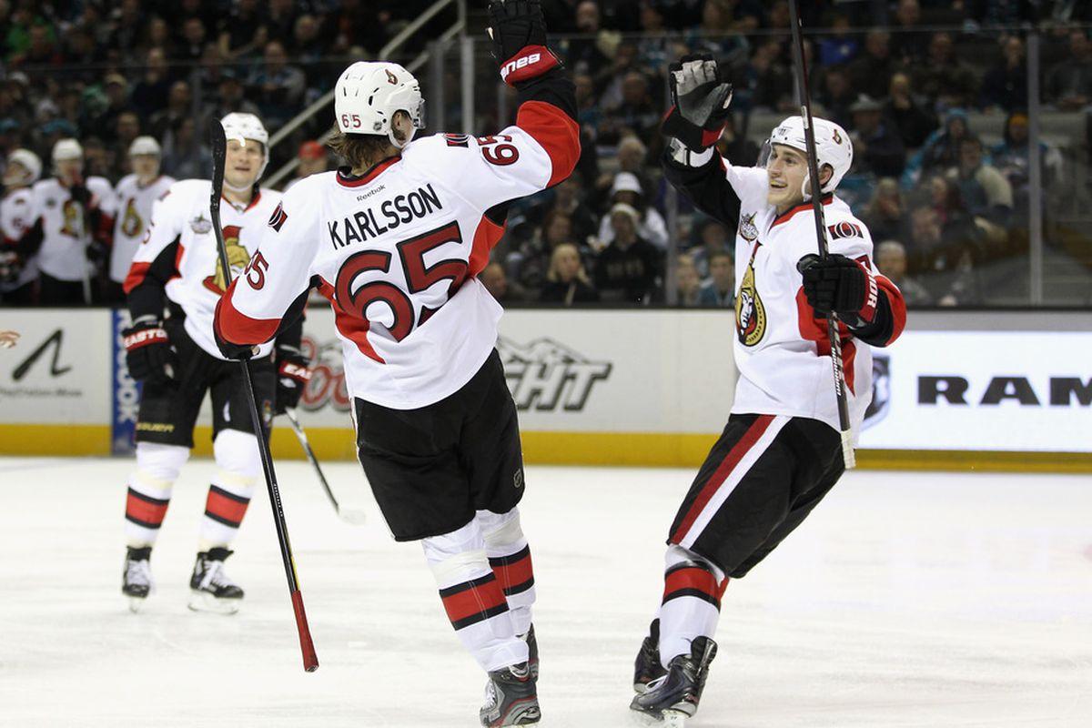 """Karlsson prepares to do a """"too slow"""" joke."""