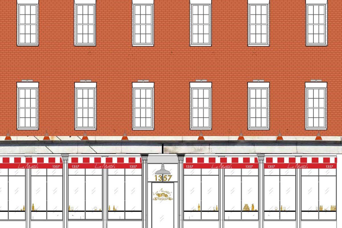 Rendering of the La Motta's facade.