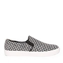 """Pixie Market houndstooth slip-on sneakers, <a href=""""http://www.pixiemarket.com/houndstooth-slip-on-shoes.html"""">$62</a>"""